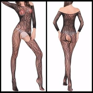 ❤NEW Sexy Open Crotch Bodystocking Lingerire #L007